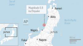 Strong Quake Strikes Northwest Japan, Triggers Small Tsunami, Power Cuts