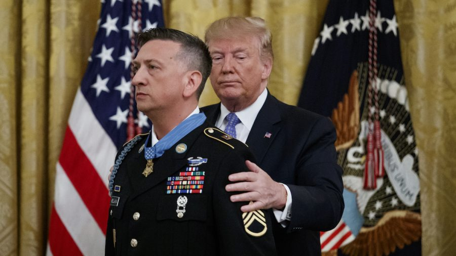 Trump Awards Highest Military Honor to Iraq War Veteran