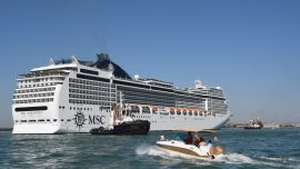 Out-of-Control Cruise Ship Injures 5 After It Crashes Into Dock, Tourist Boat
