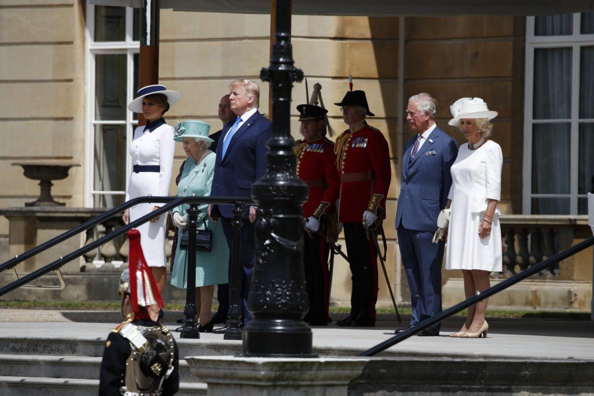 president trump arrives for uk state visit