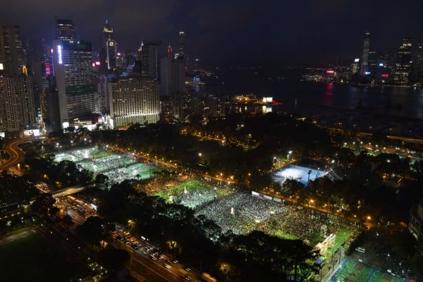 tiananmen massacre anniversary hong kong vigil