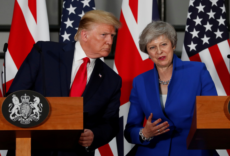 trump with theresa may