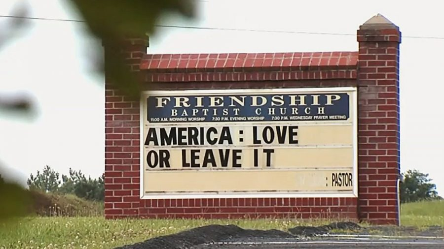 Church Sign in Virginia Says 'America: Love or Leave It'