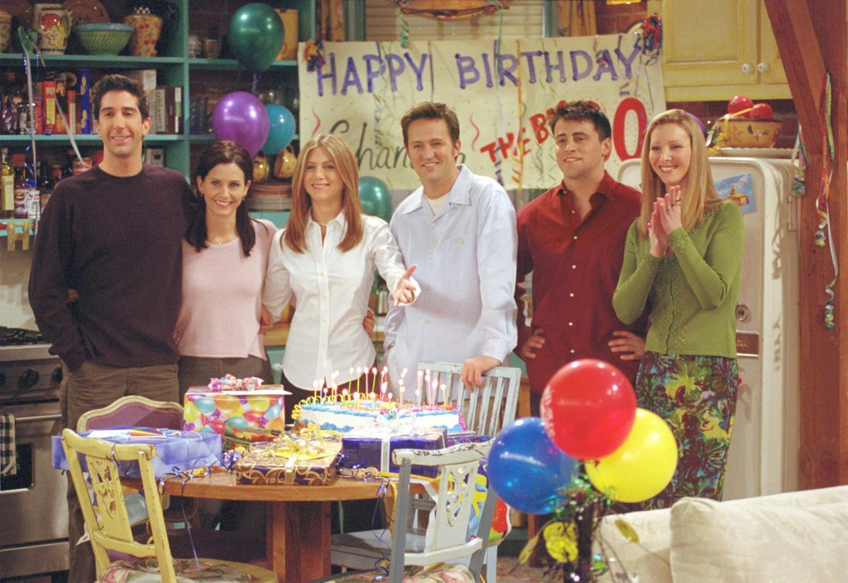Cast members of NBC's comedy series Friends.