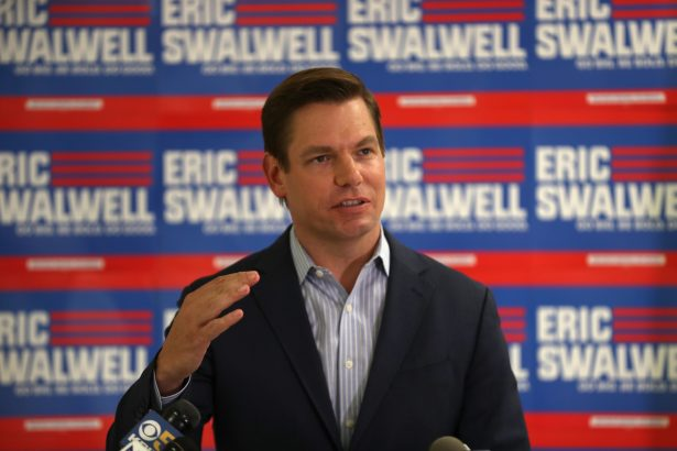 Democratic presidential candidate Rep. Eric Swalwell