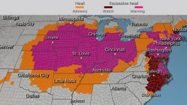 About 195 Million People Are Under Watches and Warnings as the Heat Wave Begins to Reach Peak Temperatures