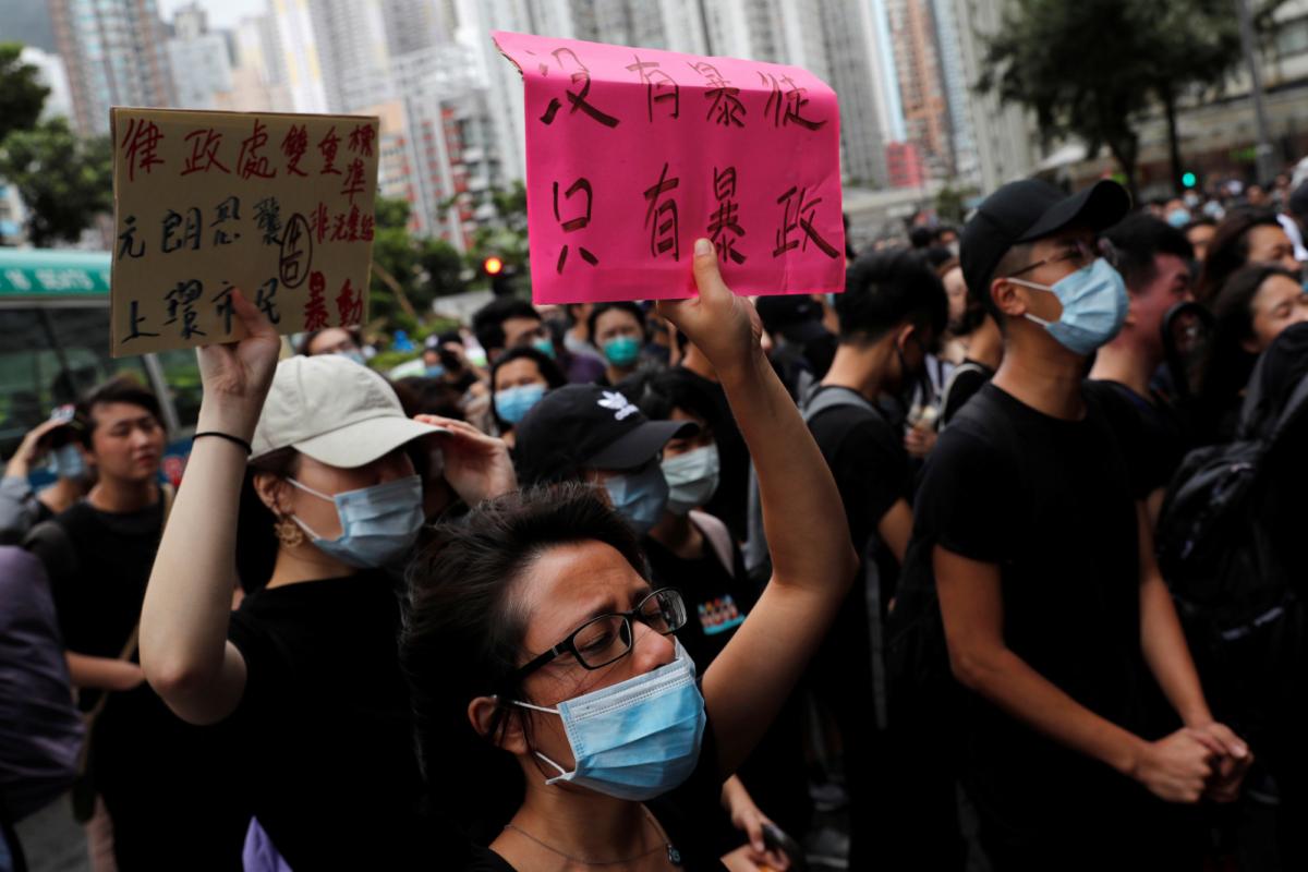 Hong Kong protesters gather