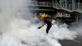 Hong Kong Police Switches to Flesh-Burning Tear Gas Made in China