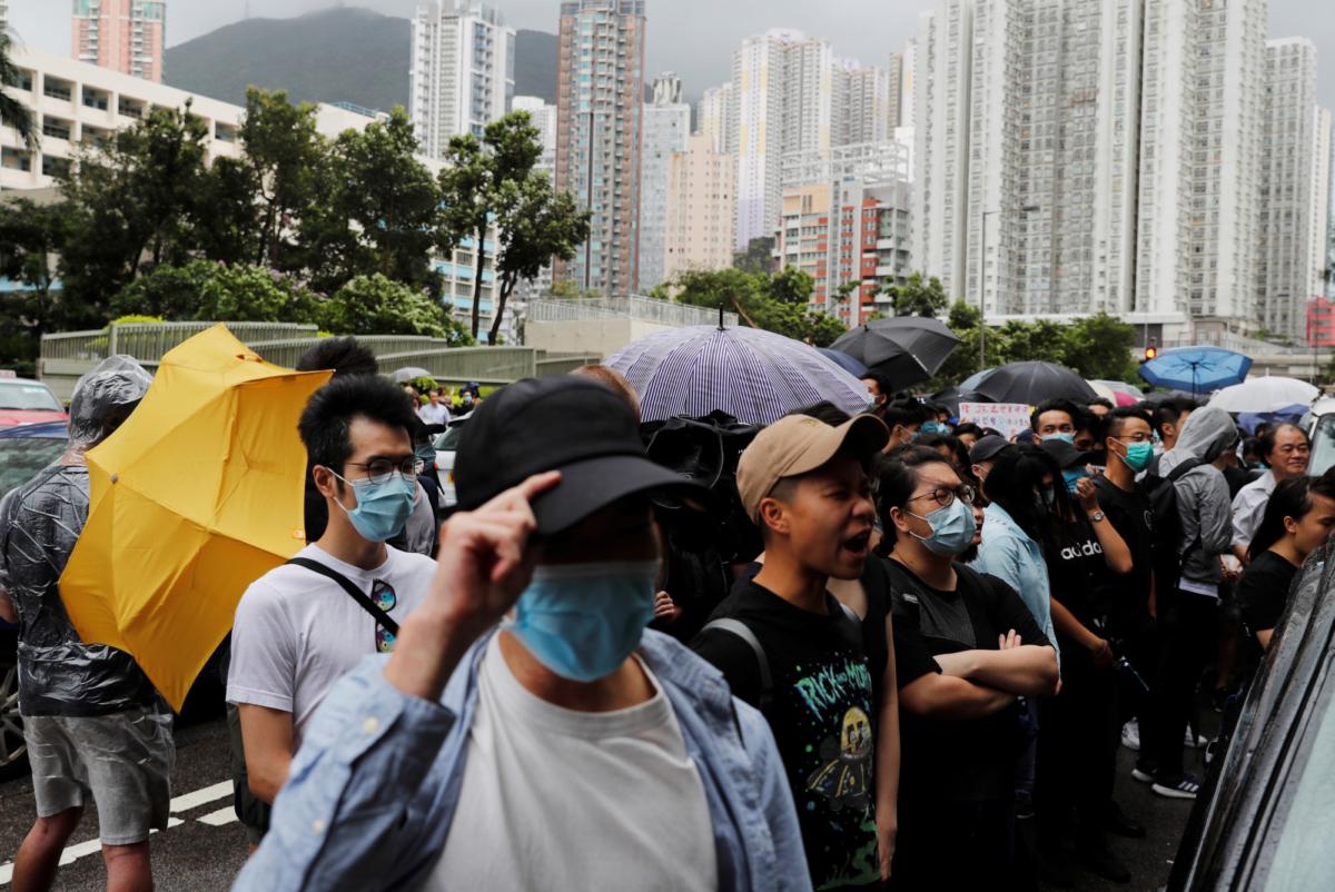 Hong Kong protests gather