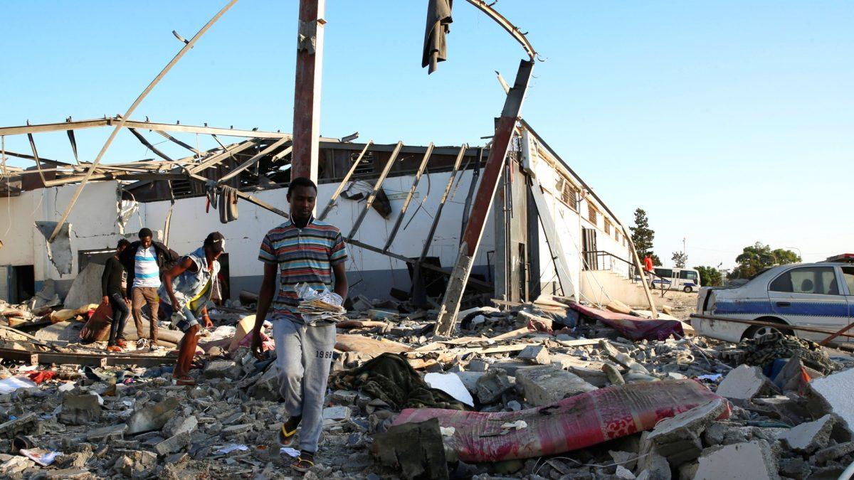 Libya airstrike migrant center 2