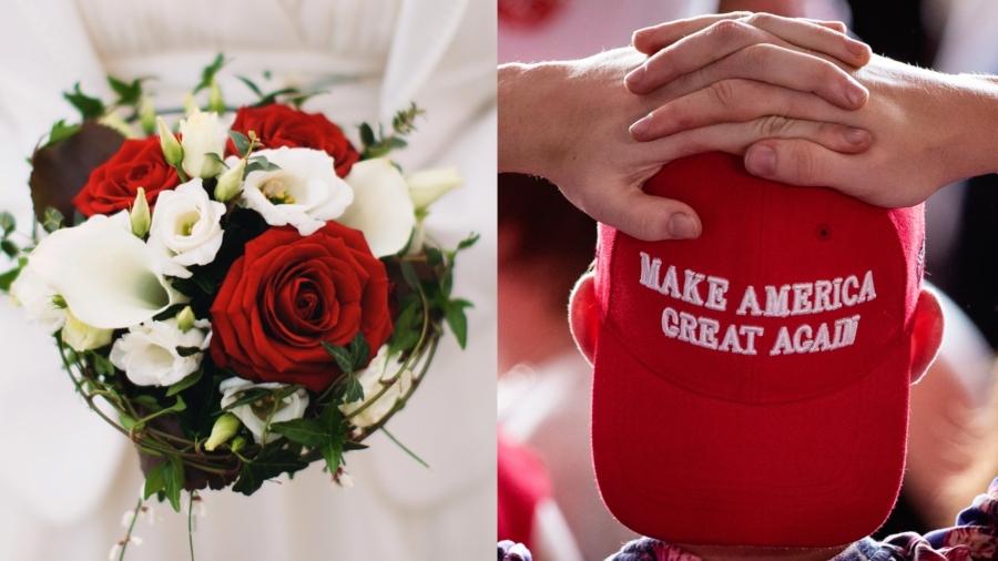 Couple Celebrates MAGA-Themed Wedding, Faces Backlash