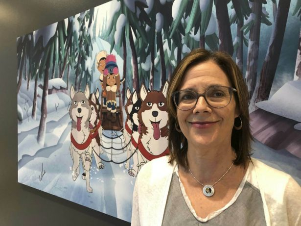 """Dorothea Gillim, executive producer and co-creator of """"Molly of Denali,"""" at the Anchorage Museum"""