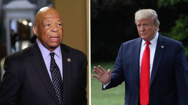 President Trump and Elijah Cummings