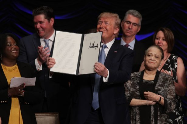 President Donald Trump Delivers Remarks On Advancing American Kidney Health