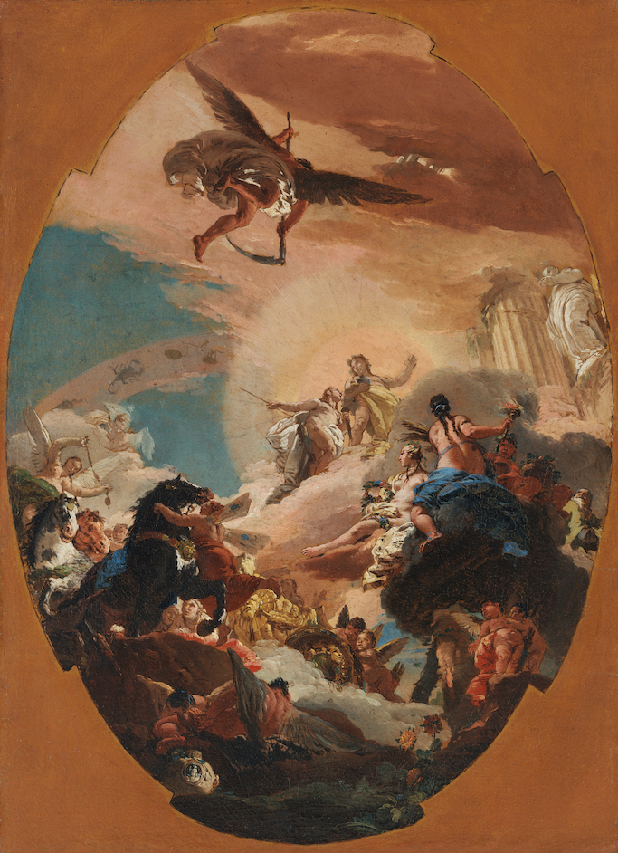 Giambattista Tiepolo Apollo and Phaëton, ca. 1730–31 Oil on canvas 25 1/4 × 18 3/4 inches Los Angeles County Museum of Art; Gift of The Ahmanson Foundation (Courtesy to The Frick Collection )