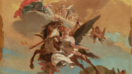Tiepolo's War-Destroyed Ceiling Paintings Displayed At The Frick