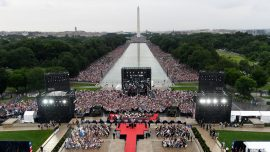 Pictures Show Crowd Size at Trump's July 4 Celebration