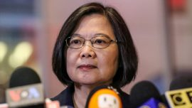 Taiwan President Arrives in US After Warning of Threat From Mainland China