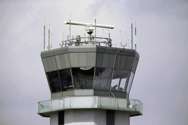 The air traffic control tower