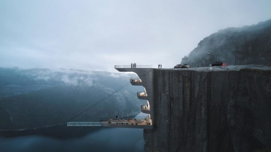 Beautiful or Terrifying? Architect Designs Hotel Suspended Over a Cliff