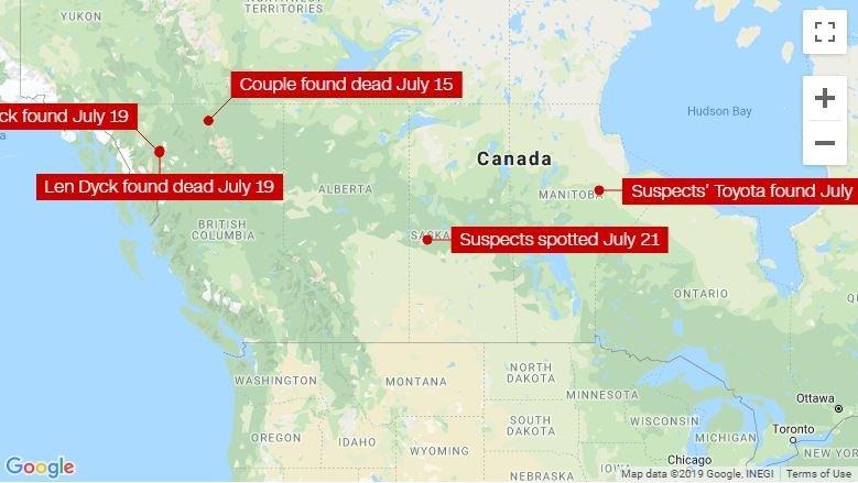 Canada Murder Map