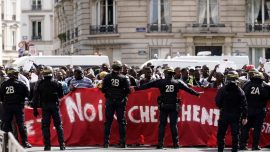 Illegal Migrants Storm Paris Pantheon Demanding Residency Papers and Free Housing From French Government
