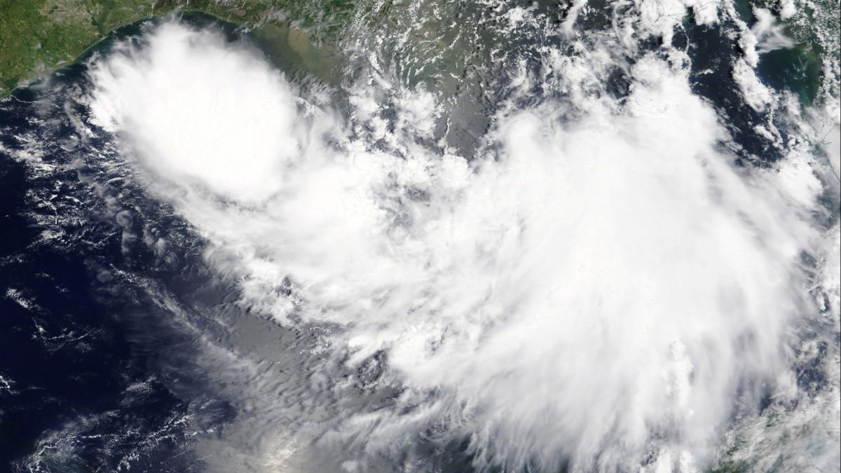 Tropical Storm Barry is shown in the Gulf of Mexico