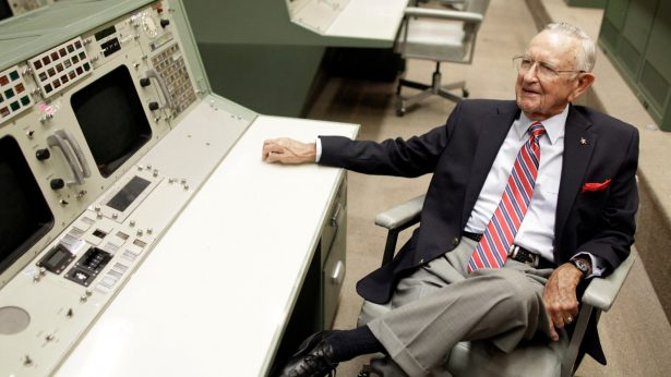 NASA Mission Control founder Chris Kraft talks about early Apollo missions