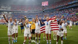 'Amazing Disrespect:' Video Shows US Women's Soccer Team Letting American Flag Drop to Ground