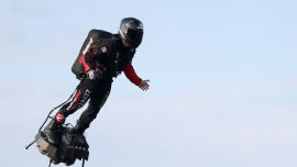 French 'Flying Man' Crosses Channel on Jet-Powered Hoverboard