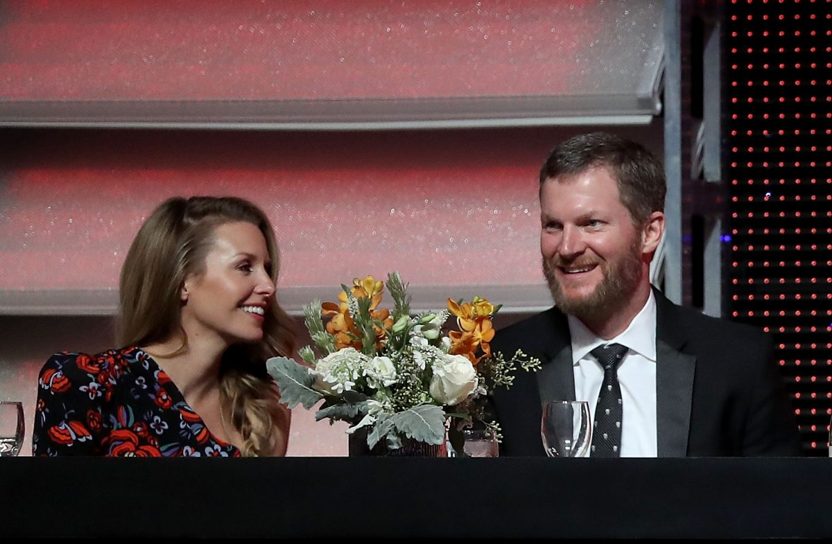 Dale Earnhardt Jr and wife