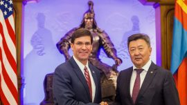 With an Eye on China, Russia and a Horse, Pentagon Chief Visits Mongolia