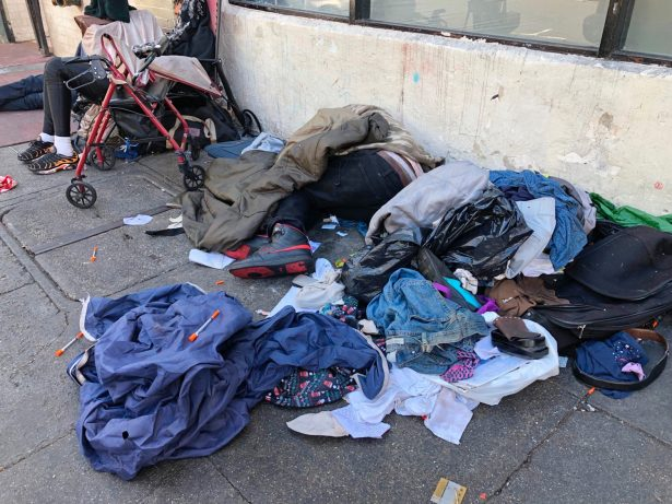 Homeless people in Tenderloin District
