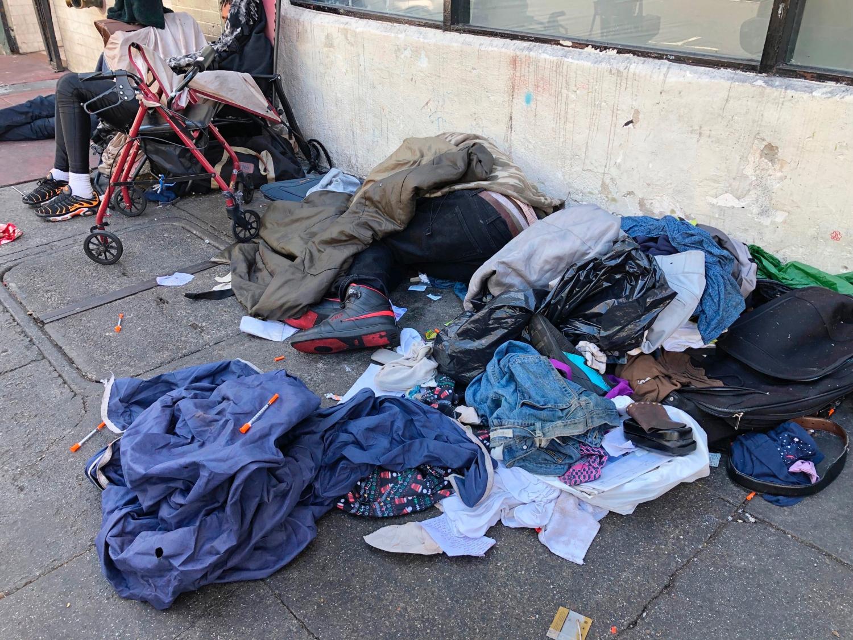 Homeless people in Tenderloin District