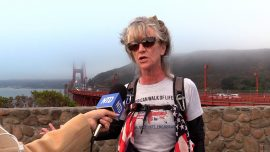 61-Year-Old Crosses Country by Foot and Pedal