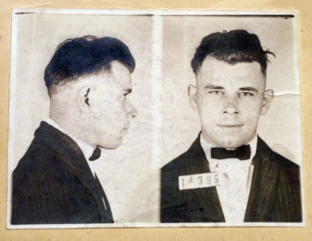 Indiana Reformatory booking shots of John Dillinger