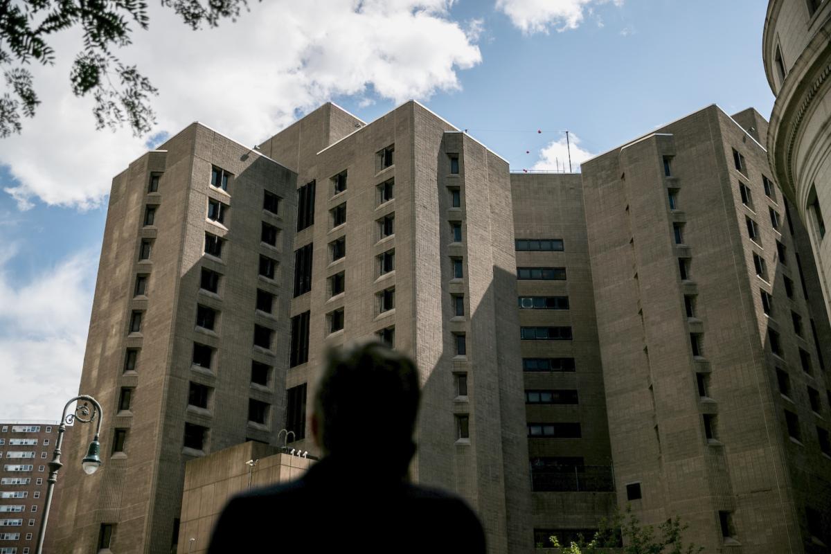 FILE PHOTO: An exterior view of the Metropolitan Correctional Center jail where financier Jeffrey Epstein, who was found dead in the Manhattan borough of New York City, New York