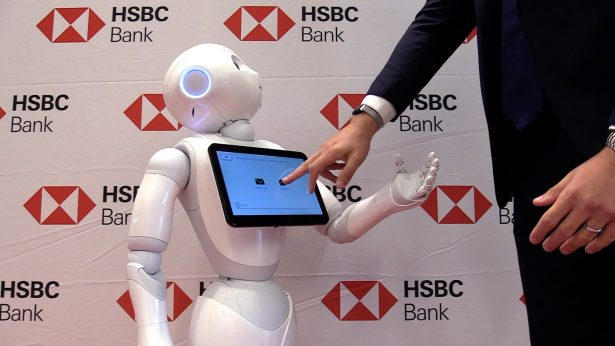 Bank Branch Unveils its First Social Humanoid Robot for