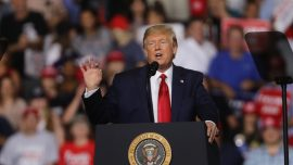 At Rally, Trump Says Considering Building More Mental Institutions to Address Potential Shooters