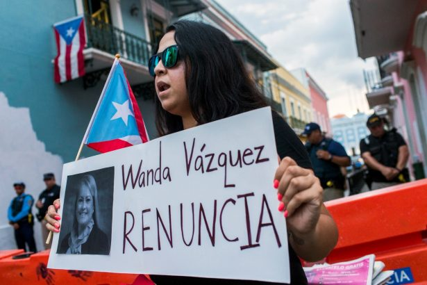 Protesters in Puerto Rico