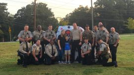 His Dad Died In the Line of Duty, So Sheriff's Deputies Escorted Him to His First Day of School