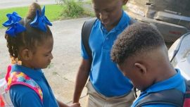 First Day of School Photo of Siblings Praying Goes Viral