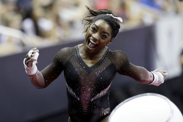 Simone Biles Makes History Again With Jaw-dropping Triple-Double in Floor Exercise