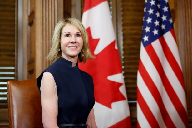 U.S. Ambassador to Canada Kelly Craft takes part in a meeting