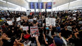 Flights Canceled Out of Hong Kong Airport As Protesters Flood Terminal