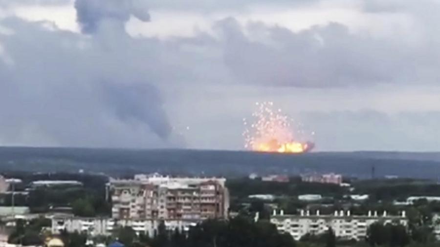 Blasts Rock Russian Arms Depot, Eight Injured