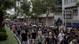 Hong Kongers Stage More Anti-Government Protests, Braving Storms