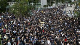 Hongkongers March for Ninth Consecutive Week Against Government