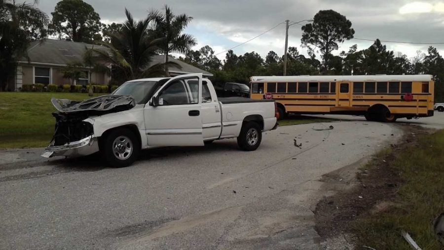 Truck Crashes Into School Bus on First Day of School, 1 Child Injured
