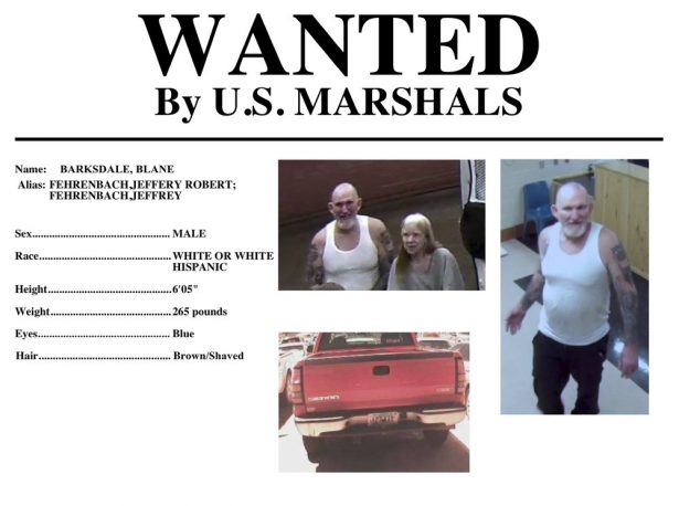 Blane Barksdale, 56, and Susan Barksdale, 59. Authorities believe husband and wife fugitives wanted in the killing an Arizona man have been able to stay under the radar for more than a week